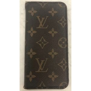 Louis Vuitton iPhone 6+ Folio Case Monogram Brown